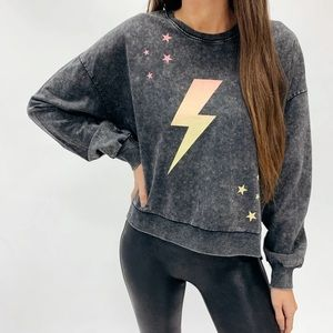 Urban Outfitters Vintage Wash Lightning Pullover
